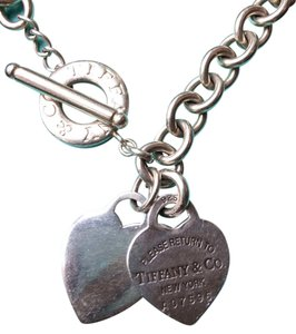 Tiffany & Co. Return To Tiffany Double Heart Toggle Necklace