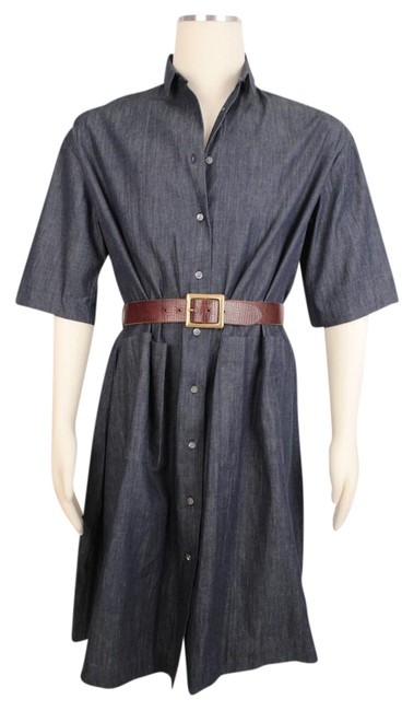 Preload https://img-static.tradesy.com/item/22119868/demylee-blue-chambray-linen-button-down-34-sleeve-tunic-398-mid-length-short-casual-dress-size-12-l-0-2-650-650.jpg
