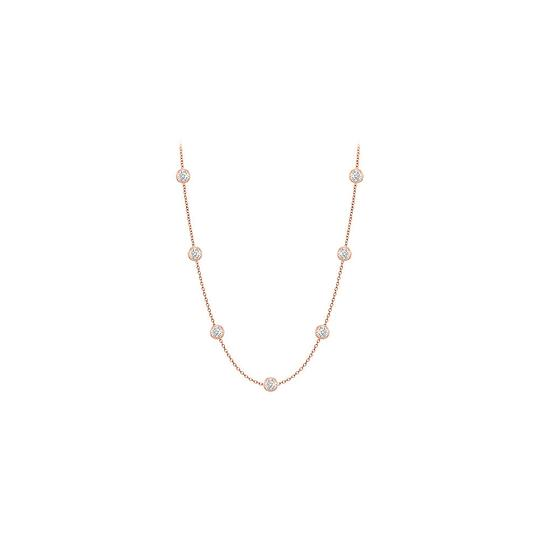 Preload https://img-static.tradesy.com/item/22119922/rose-pink-white-diamonds-by-the-yard-14k-gold-bezel-set-033-cttw-necklace-0-0-540-540.jpg