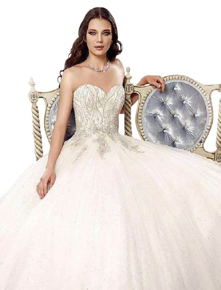 Wedding Dress In Ct.Eddy K Ivory Silver Tulle Ct126 Formal Wedding Dress Size 6 S 55 Off Retail