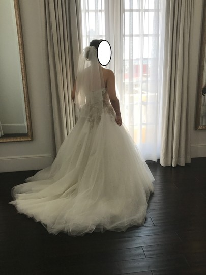 Eddy K Ivory/Silver Tulle Ct126 Formal Wedding Dress Size 6 (S) Image 3