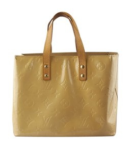 Louis Vuitton Patent Leather Tote in Gold