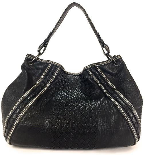 Bottega Veneta Satchel Weaved Suede Travel Business Casual Hobo Bag Image 5