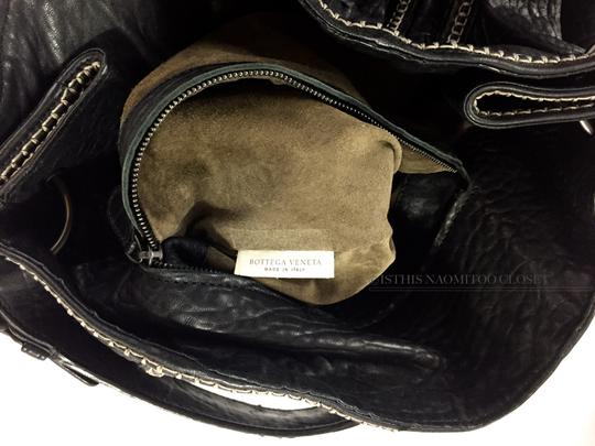 Bottega Veneta Satchel Weaved Suede Travel Business Casual Hobo Bag Image 9
