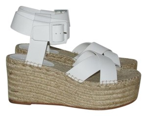 Céline Optic White Criss Cross Sandals