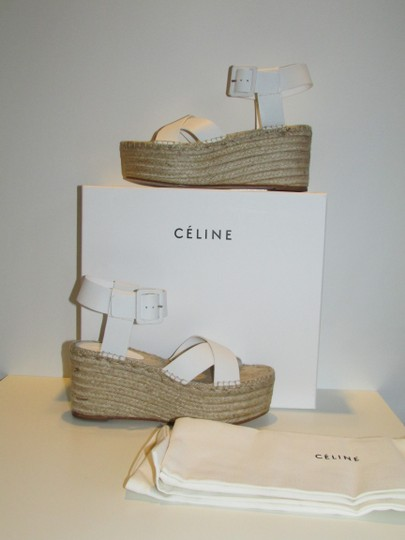 Céline Optic White Criss Cross Sandals Image 1
