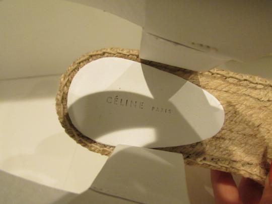 Céline Optic White Criss Cross Sandals Image 2