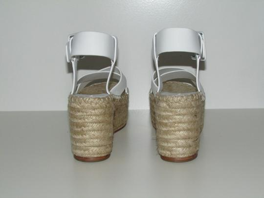 Céline Optic White Criss Cross Sandals Image 3