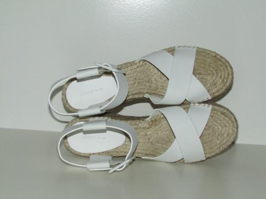 Céline Optic White Criss Cross Sandals Image 8