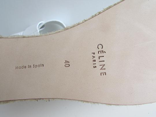 Céline Optic White Criss Cross Sandals Image 9