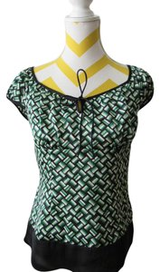 Ann Taylor LOFT Top Black, green
