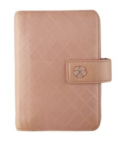 Chanel Chanel Camellia Pink Quilted Leather Snap Agenda (135458)