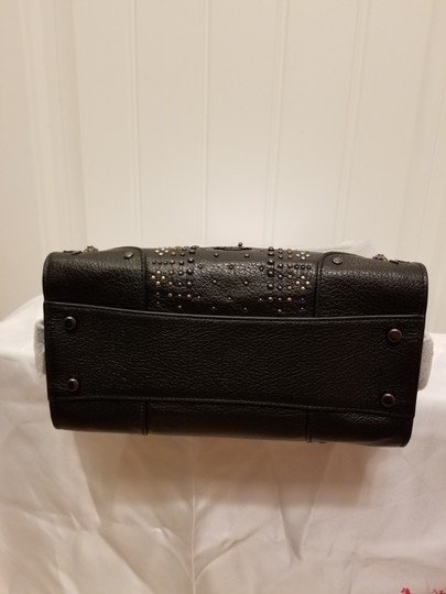 Coach Mercer Rivets Leather Crossbody Satchel in Black Image 5