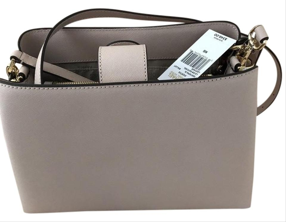 002f42833e0a Michael Kors Mk Portia Large Saffiano Leather 191262322945 Satchel in  Ballet Image 0 ...