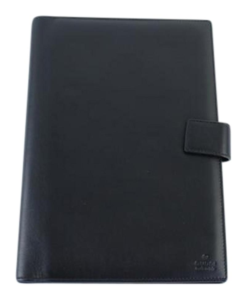 90c1231c12ce0c Gucci Black Leather Agenda Cover 4gk0919 - Tradesy