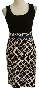 Donna Degnan short dress Blue, black and white on Tradesy