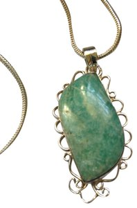 Other New Amazonite Gemstone Pendant Necklace in Sterling Silver setting 20