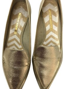 Nicholas Kirkwood Loafer gold metallic Flats