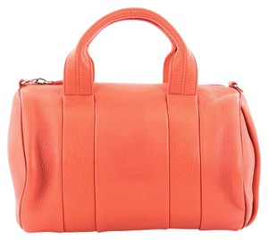 Alexander Wang Leather Satchel in Red Orange