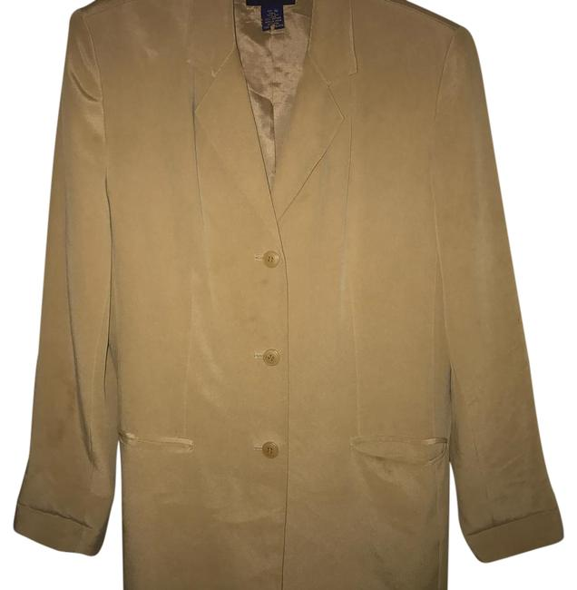 Preload https://img-static.tradesy.com/item/22121044/charter-club-tan-silk-blazer-button-down-top-size-10-m-0-1-650-650.jpg