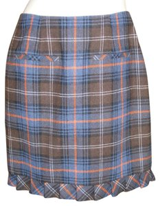 CAbi Career Sophisticated Lined Skirt Multicolor Plaid