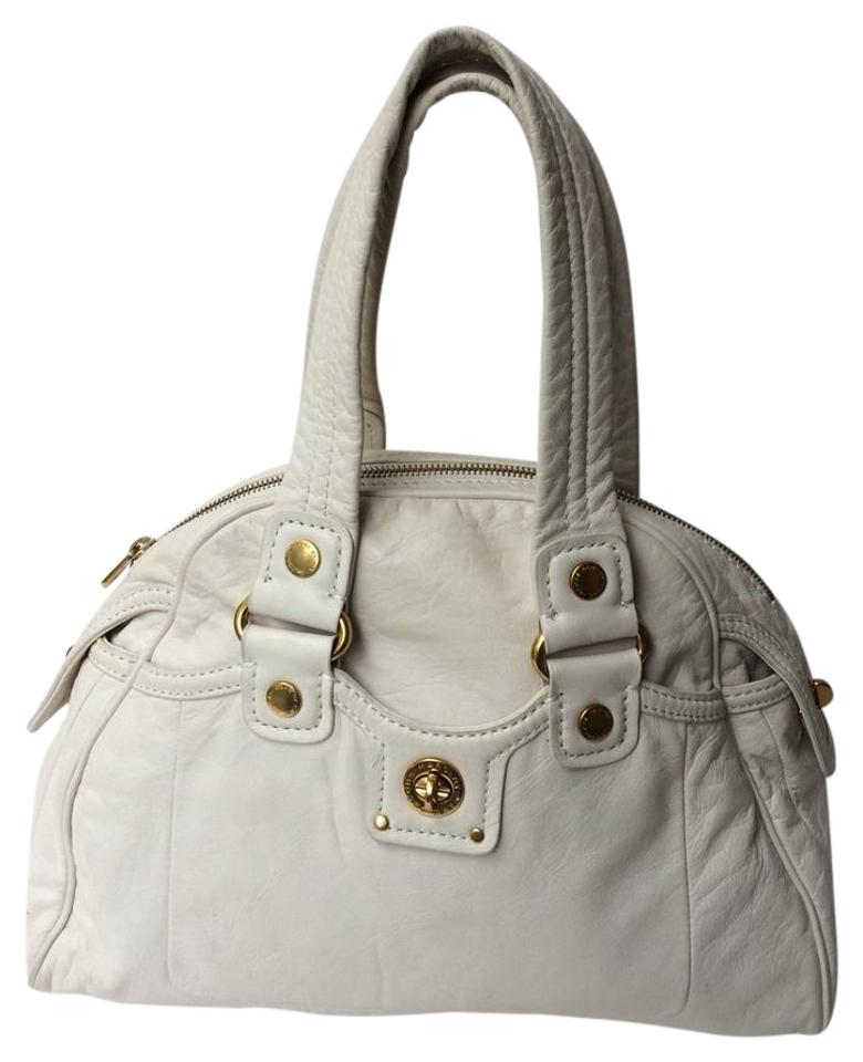 7a1c9952aa0 Marc by Marc Jacobs Toyally Turnlock Baby Aidan Bowler White Leather Satchel
