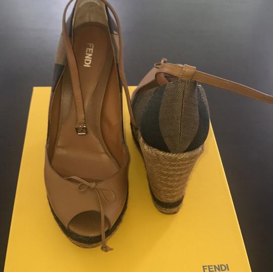 Fendi brown and beige Wedges Image 1
