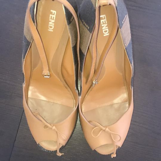 Fendi brown and beige Wedges Image 4