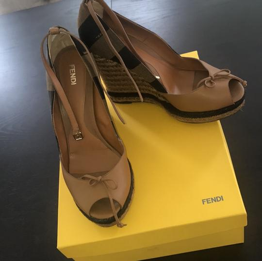 Fendi brown and beige Wedges Image 7