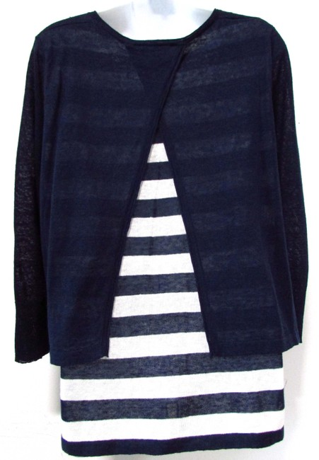 Nurture Linen Casual Striped Longsleeve Layered Sweater Image 1