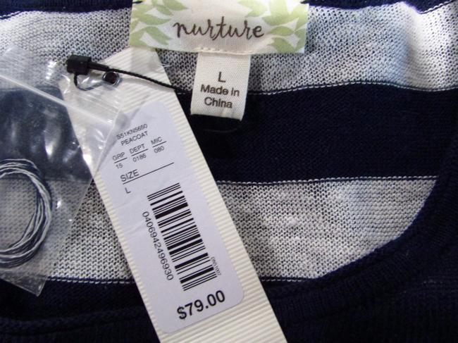 Nurture Linen Casual Striped Longsleeve Layered Sweater Image 2