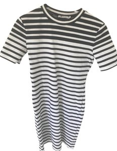 Alexander Wang short dress Navy Blue, White T By Striped Classic on Tradesy