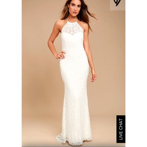 Lulu*s White Lace Wedding Dress Wedding Dress