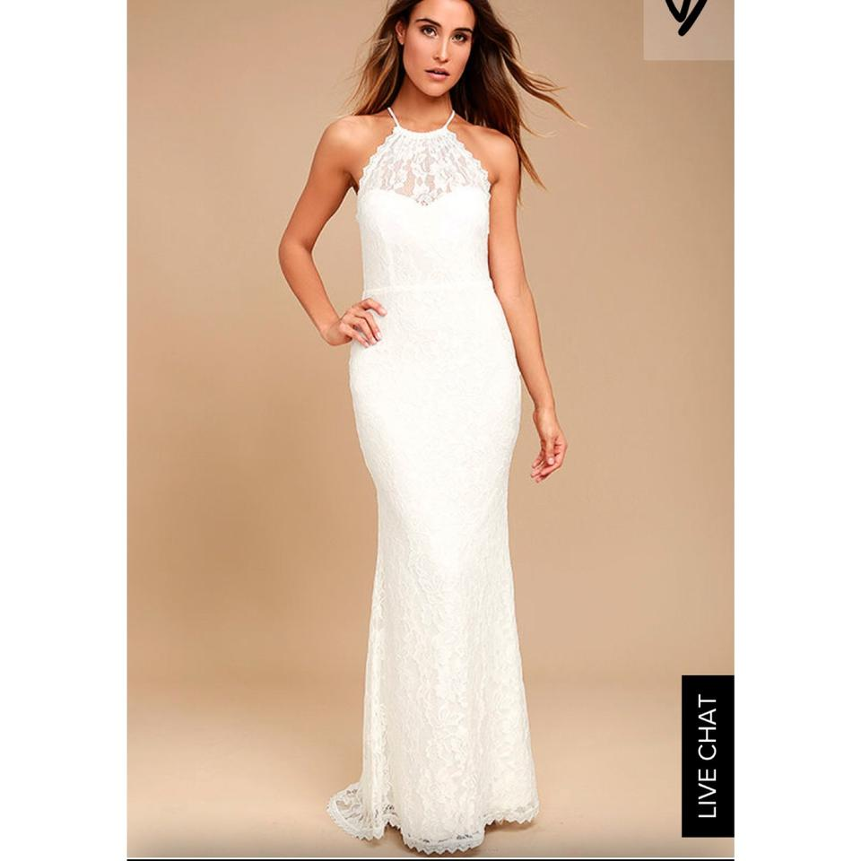 Lulu*s White Lace Destination Wedding Dress Size 0 (XS) - Tradesy