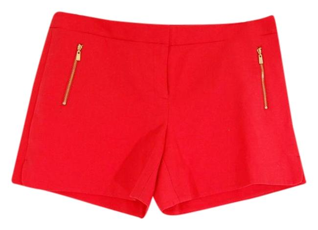 Preload https://img-static.tradesy.com/item/22121863/laundry-by-shelli-segal-red-gold-zipper-flat-front-flattering-minishort-shorts-size-12-l-32-33-0-1-650-650.jpg