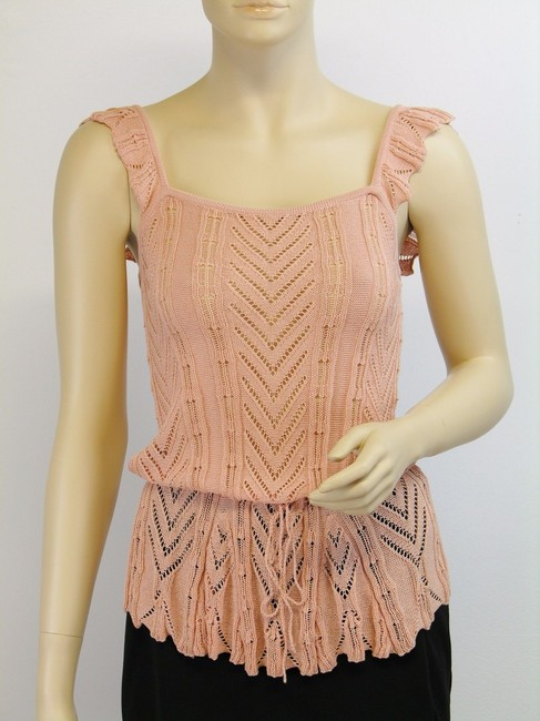 Item - Salmon For Anna Sui Weave Sleeveless Knit Tank Top/Cami Size 4 (S)