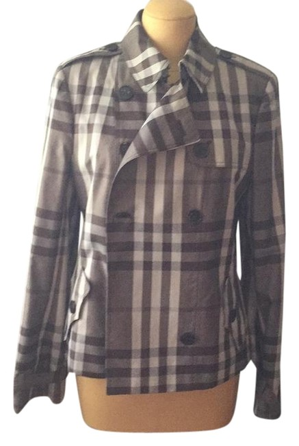 Preload https://img-static.tradesy.com/item/22121888/burberry-london-metallic-gray-tone-check-cropped-trench-jacket-size-10-m-0-1-650-650.jpg