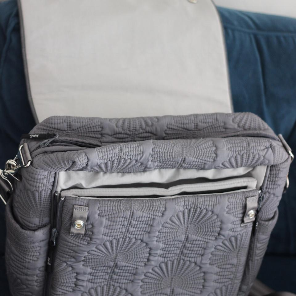 3a35d5e86854 Petunia Pickle Bottom Boxy Backpack® In Champs-elysees Stop Grey ...