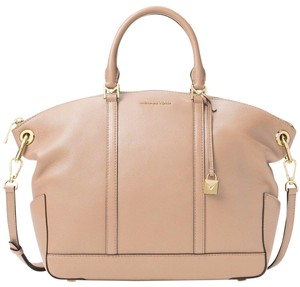 Michael Kors Satchel in Oyster/Gold