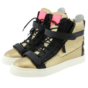 Giuseppe Zanotti Boots Sneakers Women London Black & Gold Athletic