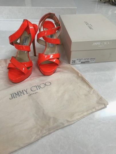 Jimmy Choo Orange Sandals Image 1