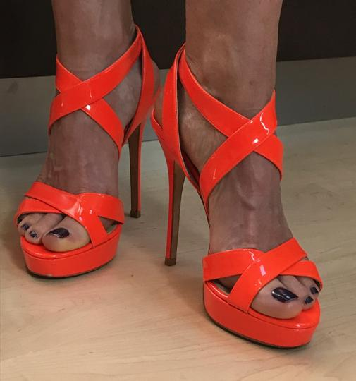 Jimmy Choo Orange Sandals Image 2