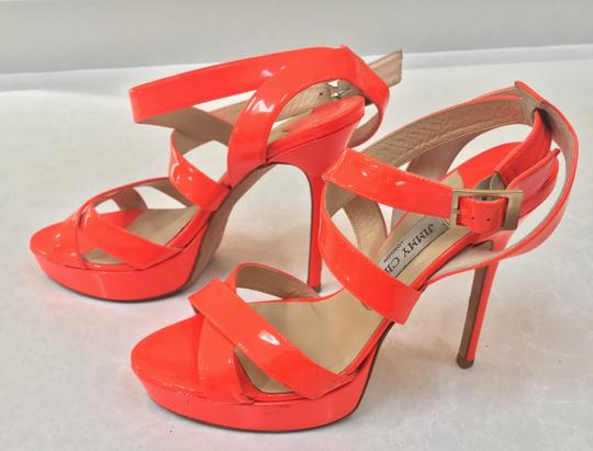 Jimmy Choo Orange Sandals Image 3