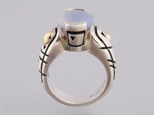 John Atencio Chalcedony, Sterling Silver and 18K Gold Ring Image 2
