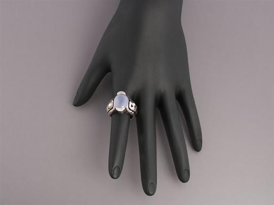 John Atencio Chalcedony, Sterling Silver and 18K Gold Ring Image 5