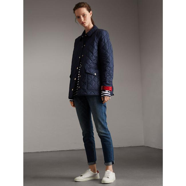 Burberry Check Diamond Qulited Signature Navy Jacket