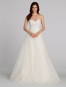Tara Keely Ivory Organza/ Lace 2554 Traditional Wedding Dress Size 8 (M)