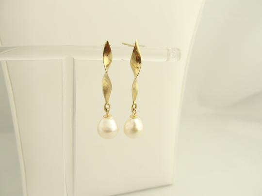 Other Pearl Wind Spinner Drop Earrings- 14k Yellow Gold Image 4
