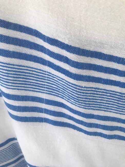 lemlem Liya Kebede Made In Ethiopia For Jcrew Top Blue and White Image 1