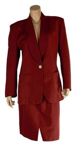 Valentino Valentino Women's Red Wool Blend Skirt Suit (29684)